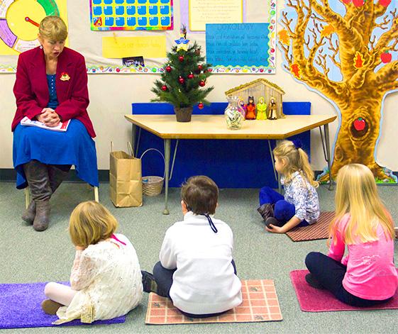 Kids at the daycare center of Pine Street Presbyterian Church